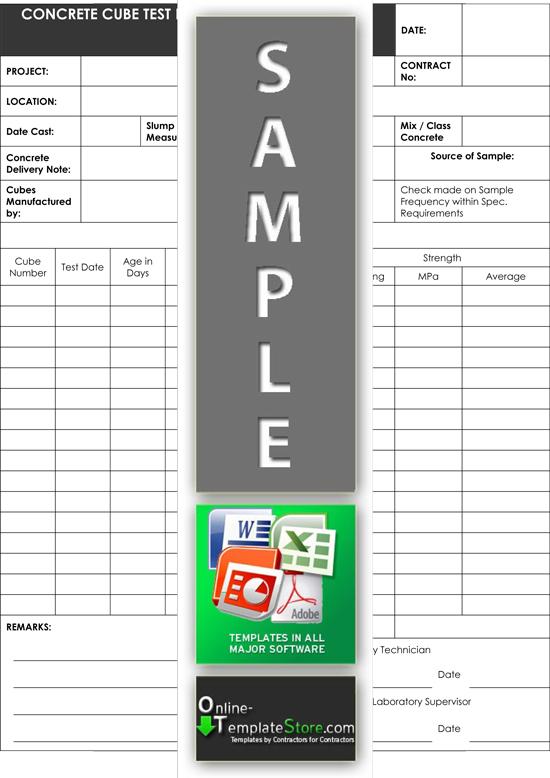 Concrete Inspection Report : Quality control forms construction templates