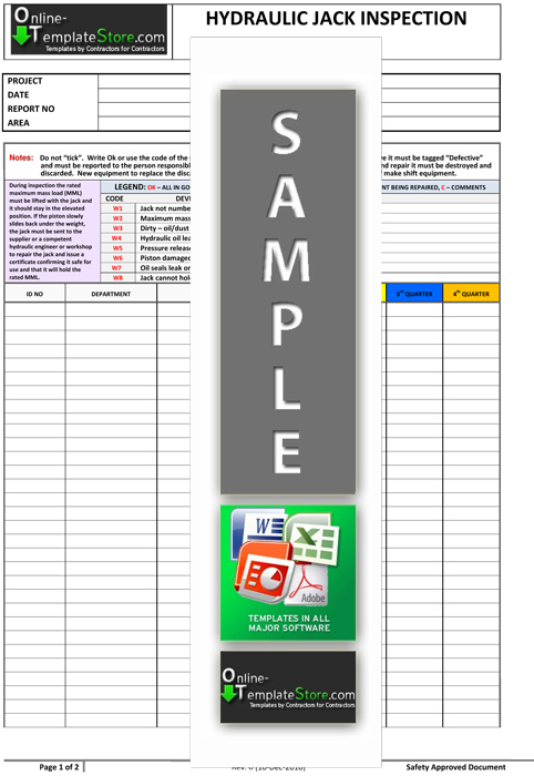 Health Amp Safety Forms Construction Templates