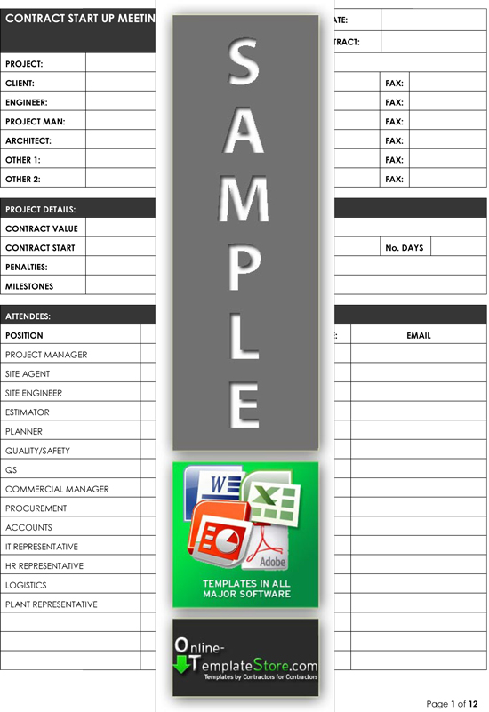 project management forms construction templates. Black Bedroom Furniture Sets. Home Design Ideas