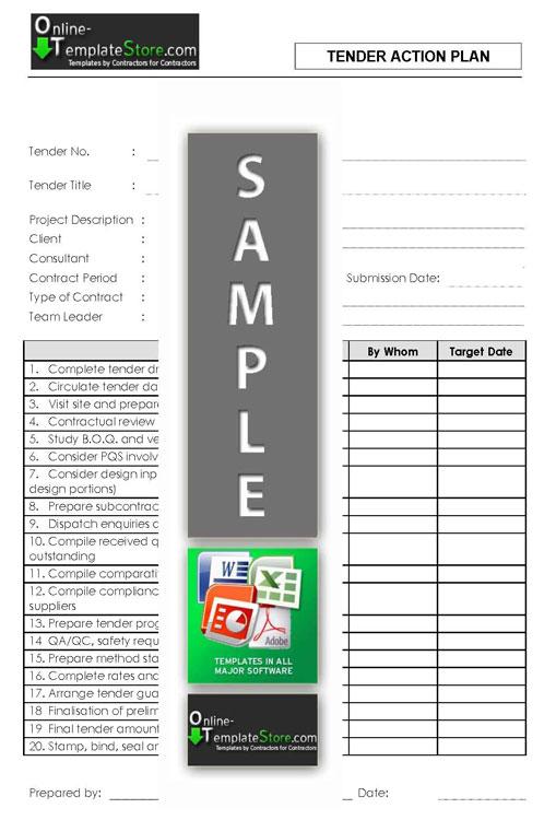 tender template document .