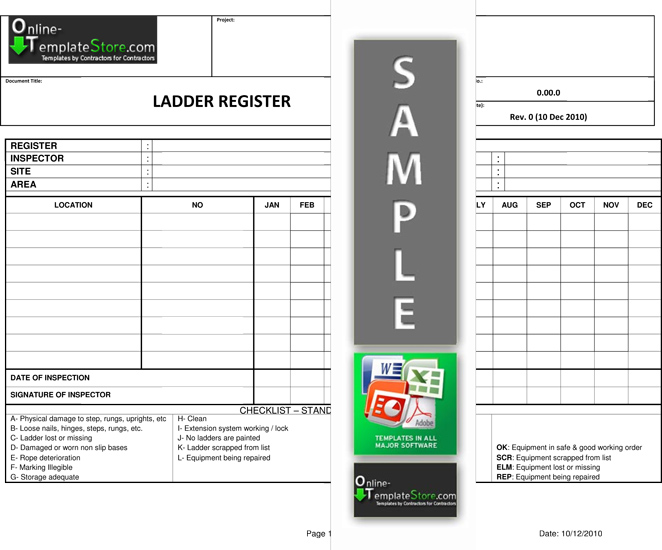 hazardous substance register template - health safety construction template store