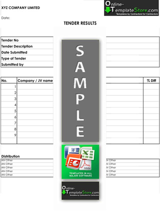 Estimating Tendering Construction Template Store