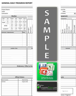 construction progress report template – Construction Project Report Format