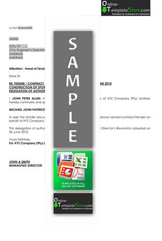 Estimating Tendering - Construction Template Store